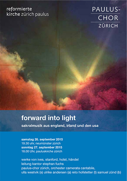 Paulus-Chor Flyer forward into light 2015